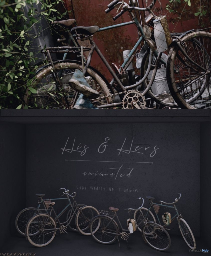 New Release: His & Her Bike by Nutmeg @ Shiny Shabby May 2019 - Teleport Hub - teleporthub.com