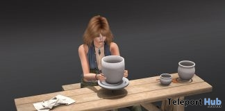 Pottery Table With Pot and Clutter 25% Off Promo by ChiC buildings - Teleport Hub - teleporthub.com