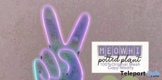 Potted Peace Neon June 2019 Group Gift by [meowhi]- Teleport Hub - teleporthub.com