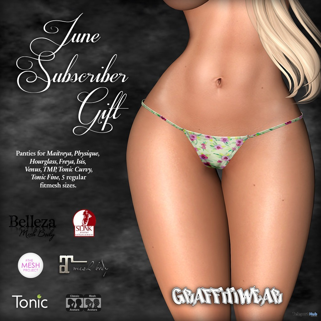 Floral Panties June 2019 Subscriber Gift by Graffitiwear - Teleport Hub - teleporthub.com