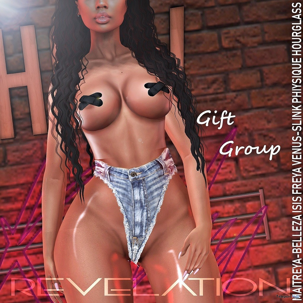 Andreia Shorts June 2019 Group Gift by Revelation - Teleport Hub - teleporthub.com