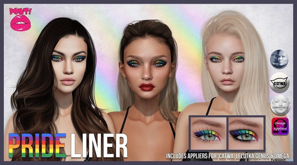 Pride Liner June 2019 Group Gift by POUT! - Teleport Hub - teleporthub.com