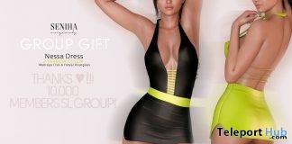 Nessa Fluor Dress June 2019 Group Gift by Seniha Originals- Teleport Hub - teleporthub.com