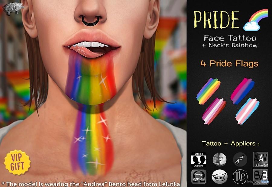 Pride Rainbow Tattoo June 2019 Group Gift by Mad'- Teleport Hub - teleporthub.com