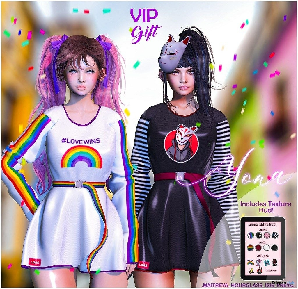 Yona Dress June 2019 Group Gift by Luas- Teleport Hub - teleporthub.com