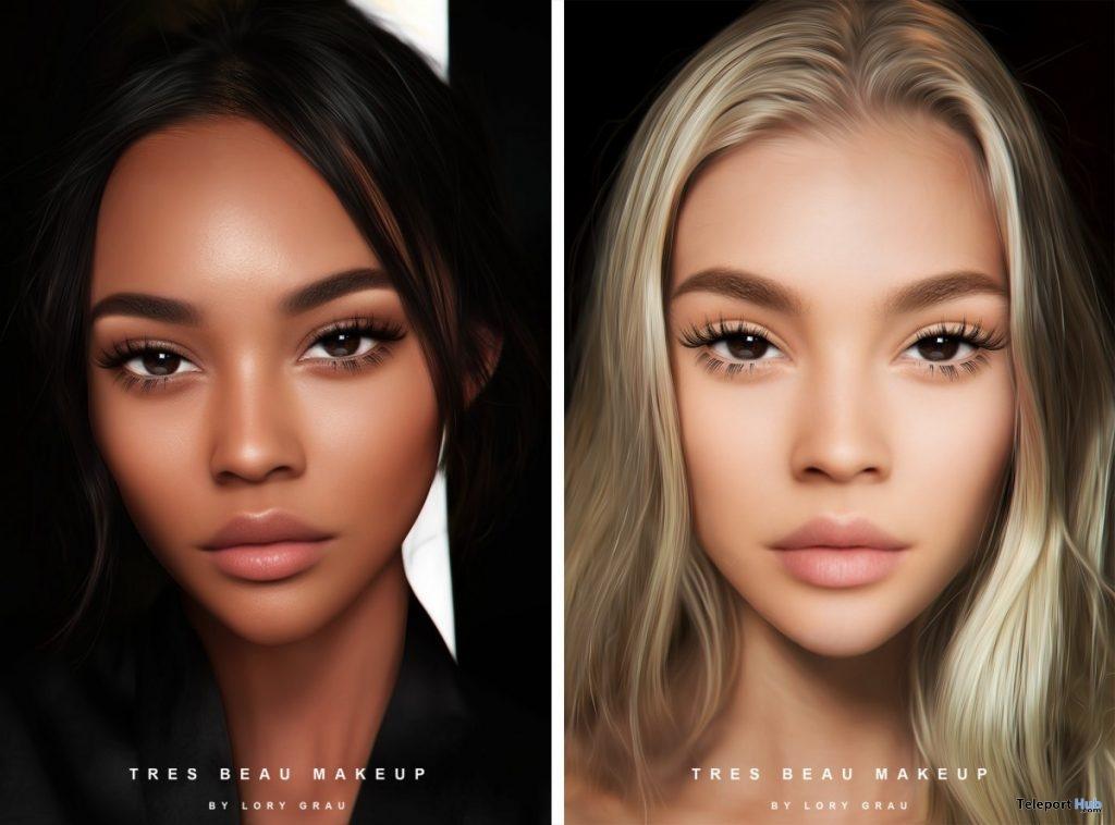 Olivia Skin Medium Dark Tone & Ava Skin Golden Tone For GENUS Head June 2019 Group Gift by Tres Beau Makeup- Teleport Hub - teleporthub.com