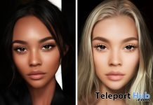 Olivia Skin Medium Dark Tone & Ava Skin Golden Tone For GENUS Head June 2019 Group Gift by Tres Beau Makeup - Teleport Hub - teleporthub.com