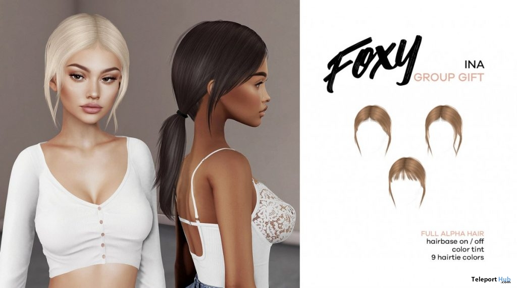 Ina Hair June 2019 Group Gift by Foxy - Teleport Hub - teleporthub.com
