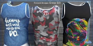 Summer Fresh Men Tanks June 2019 Group Gift by Treized Designs - Teleport Hub - teleporthub.com
