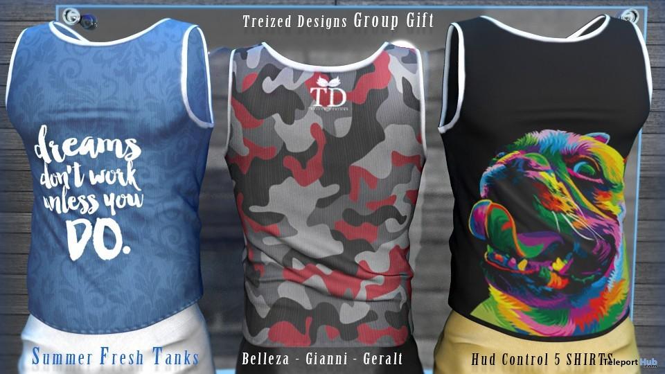 Summer Fresh Men Tanks June 2019 Group Gift by Treized Designs- Teleport Hub - teleporthub.com