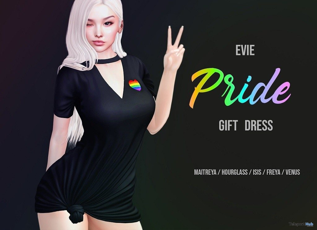 Pride Dress June 2019 Group Gift by EVIE - Teleport Hub - teleporthub.com