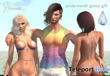Interactive Delilah Bikini & Ethan Tank Rainbow Edition June 2019 Group Gift by Salt & Pepper - Teleport Hub - teleporthub.com
