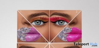Diamond Makeup Pack For Catwa & Genus Heads June 2019 Group Gift by The Face - Teleport Hub - teleporthub.com