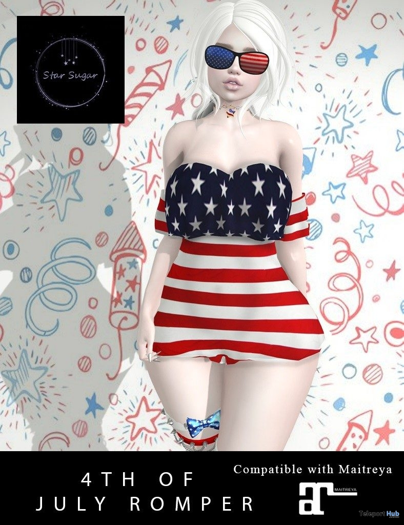 4th of July Romper July 2019 Gift by Star Sugar - Teleport Hub - teleporthub.com