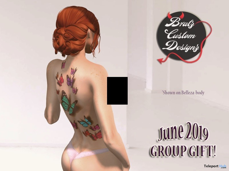 Butterfly Tattoo June 2019 Group Gift by Bratz Custom Designz - Teleport Hub - teleporthub.com