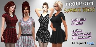 Summer Dress July 2019 Group Gift by Velvets Dreams - Teleport Hub - teleporthub.com