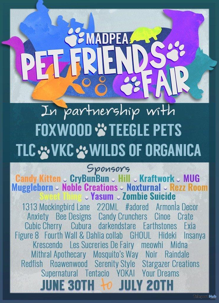 MadPea Pet Friends Fair 2019 - Teleport Hub - teleporthub.com