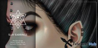 Slay Earrings June 2019 Group Gift by Psycho Barbie- Teleport Hub - teleporthub.com