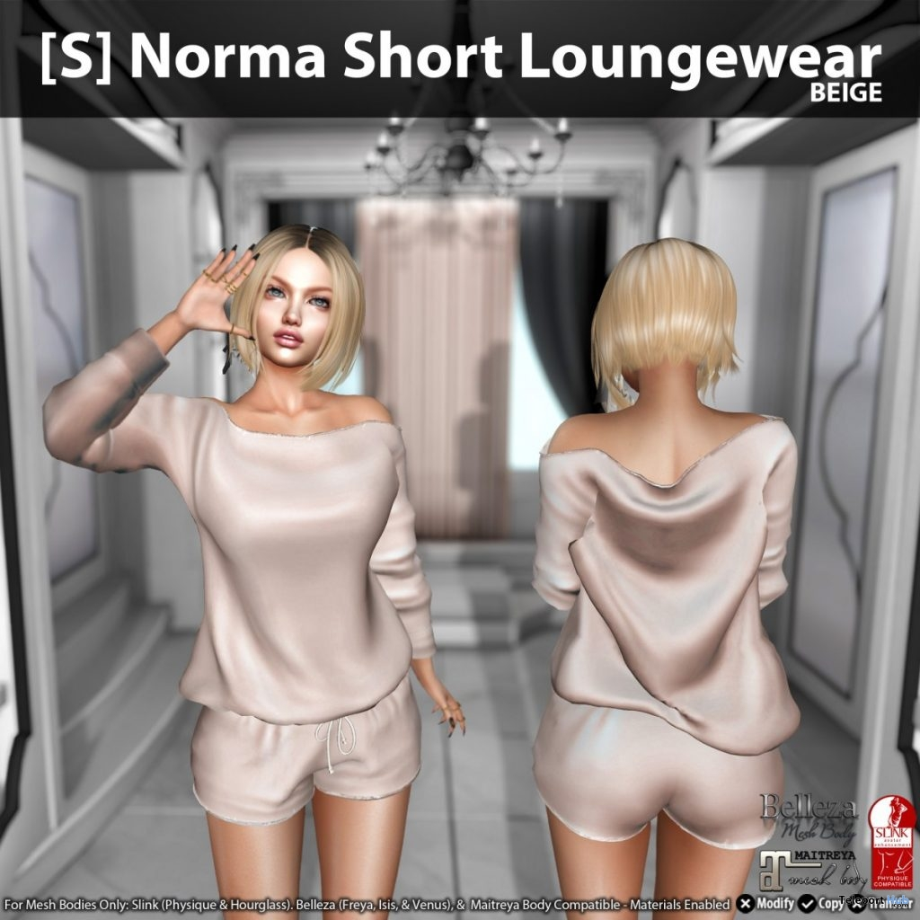 New Release: [S] Norma Short Loungewear by [satus Inc] - Teleport Hub - teleporthub.com