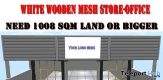 White Wooden Mesh Store or Office June 2019 Group Gift by Carissa Designs - Teleport Hub - teleporthub.com