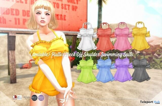 Halter Neck Swimming Suits 50% Off Promo by {amiable} @ SUMMERFEST 2019- Teleport Hub - teleporthub.com