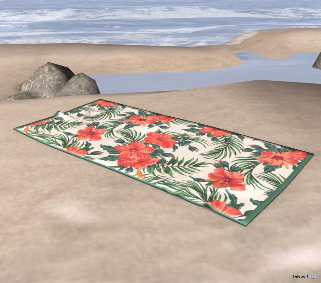 Hibiscus Beach Towel June 2019 Subscriber Gift by BALACLAVA- Teleport Hub - teleporthub.com
