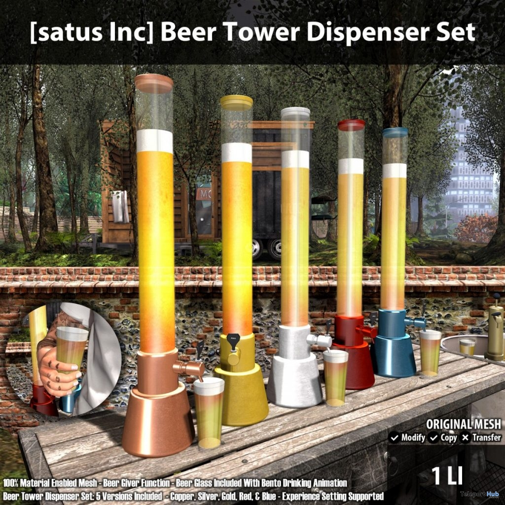 New Release: Beer Tower Dispenser Set by [satus Inc]- Teleport Hub - teleporthub.com