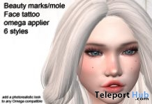 Beauty Marks Omega Face Applier July 2019 Group Gift by XTC Designs - Teleport Hub - teleporthub.com