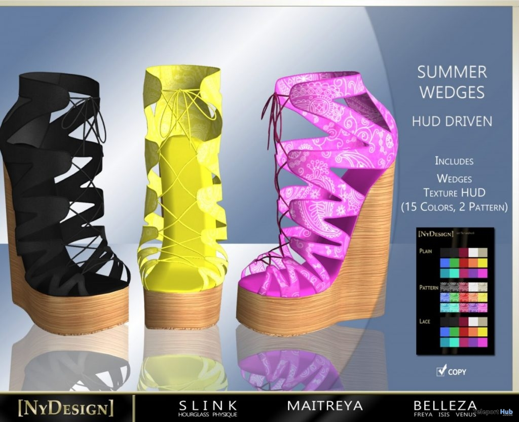 Summer Wedges July 2019 Group Gift by NyDesign- Teleport Hub - teleporthub.com