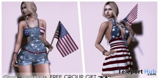Independence Day Outfit & Flag July 2019 Group Gift by zk - Teleport Hub - teleporthub.com