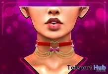 Chained Hearts Choker July 2019 Group Gift by Pretty Deceased- Teleport Hub - teleporthub.com