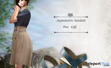 Asymmetric Sandals July 2019 Group Gift by S@BBiA - Teleport Hub - teleporthub.com