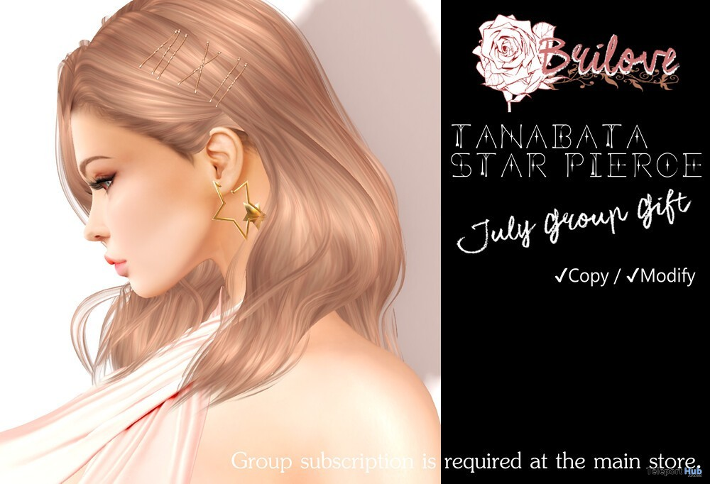 Tanabata Star Pierce July 2019 Group Gift by Brilove - Teleport Hub - teleporthub.com