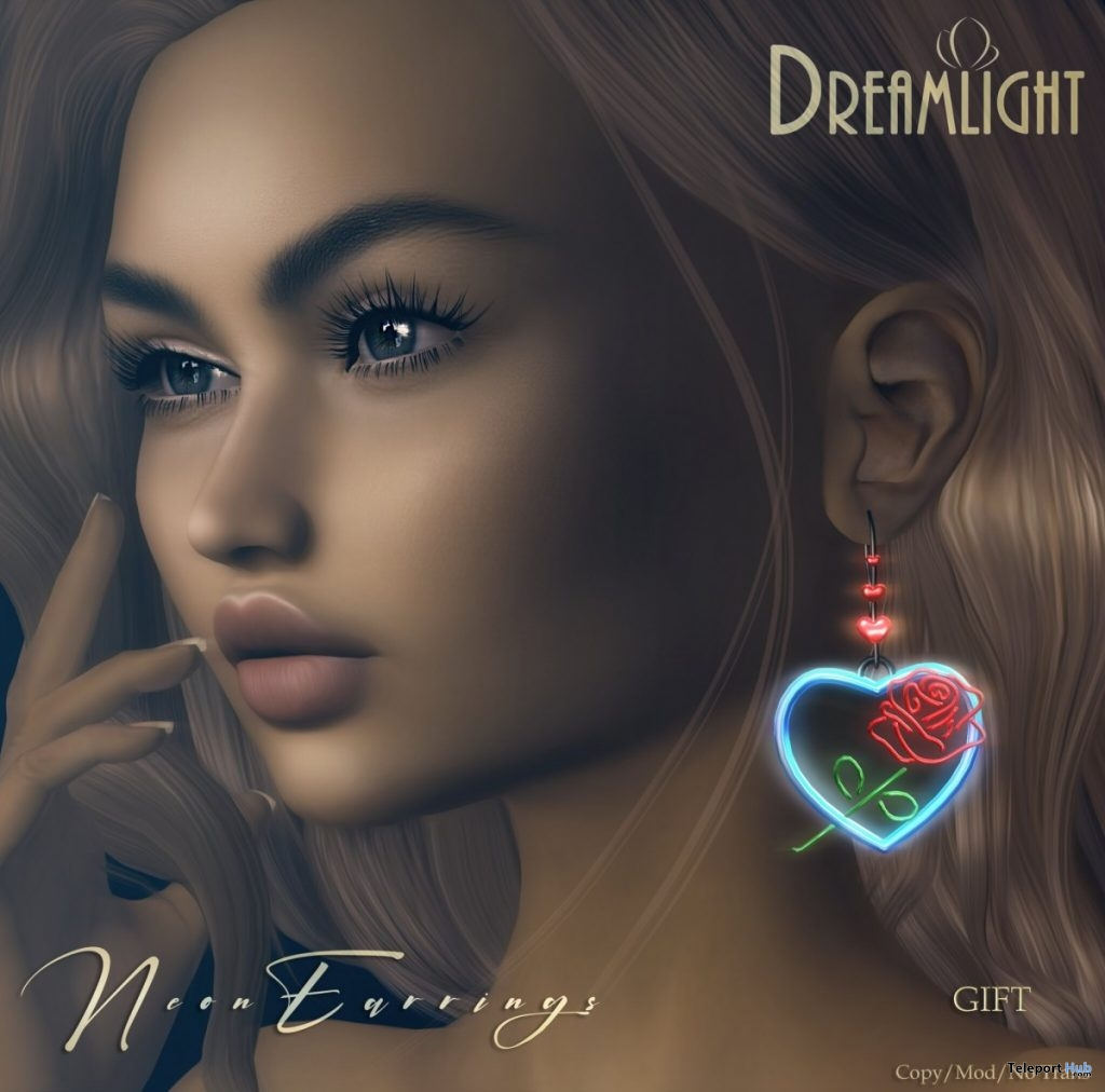 Neon Earrings On9 Event July 2019 Group Gift by DREAMLIGHT - Teleport Hub - teleporthub.com