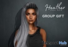 Heather Hair July 2019 Subscriber Gift by Knox Hair - Teleport Hub - teleporthub.com