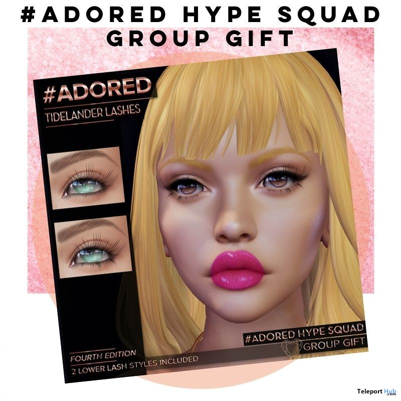 Tidelander Lashes 4th Edition July 2019 Group Gift by #adored - Teleport Hub - teleporthub.com