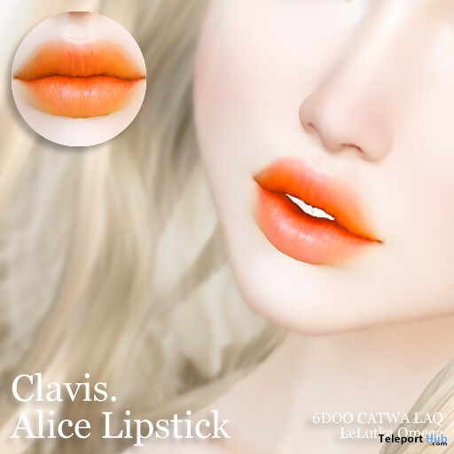 Alice Lipstick Red Yin Yang Event July 2019 Gift by Clavis - Teleport Hub - teleporthub.com