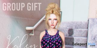 Kaley Dress July 2019 Group Gift by Belle Epoque- Teleport Hub - teleporthub.com