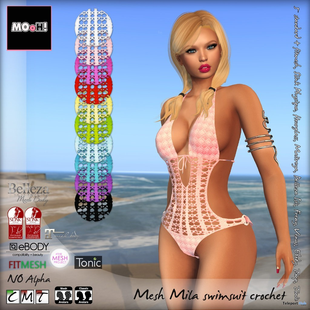 Mila Swimsuit Crochet July 2019 Limited Time Gift by MOoH!- Teleport Hub - teleporthub.com