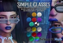 Simple Glasses July 2019 Group Gift by AsteroidBox- Teleport Hub - teleporthub.com