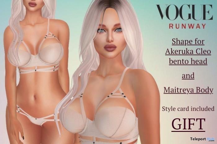 Shape for Akeruka Cleo Bento head & Maitreya Body 1L Promo Gift by Vogue Runway - Teleport Hub - teleporthub.com