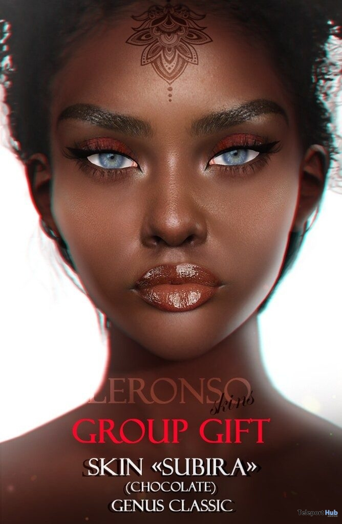 Subira Skin Chocolate Shade July 2019 Group Gift by LERONSO skins - Teleport Hub - teleporthub.com