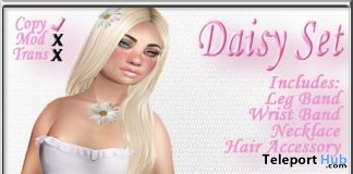Daisy Jewelry Set July 2019 Group Gift by Sweet Evil - Teleport Hub - teleporthub.com