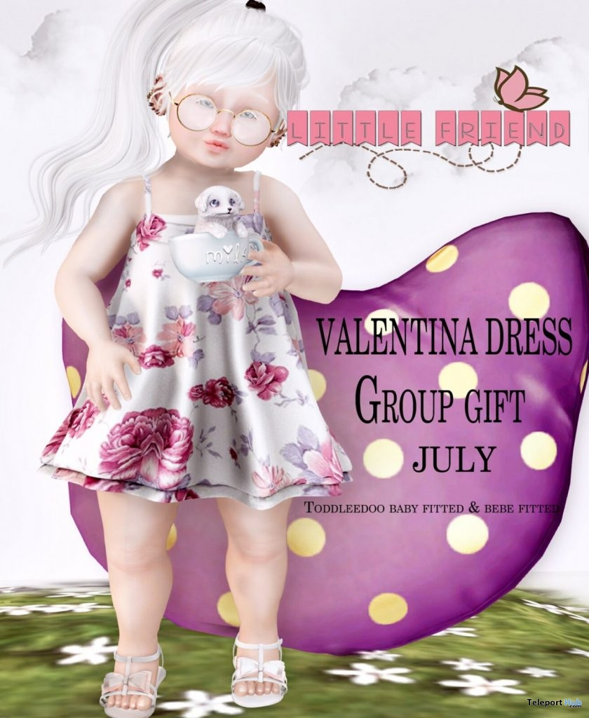 Valentina Dress July 2019 Group Gift by Little Friend Clothes - Teleport Hub - teleporthub.com