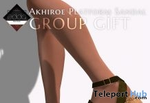 Akhiroe Platform Sandal August 2019 Group Gift by E.D.D.A Boutique- Teleport Hub - teleporthub.com