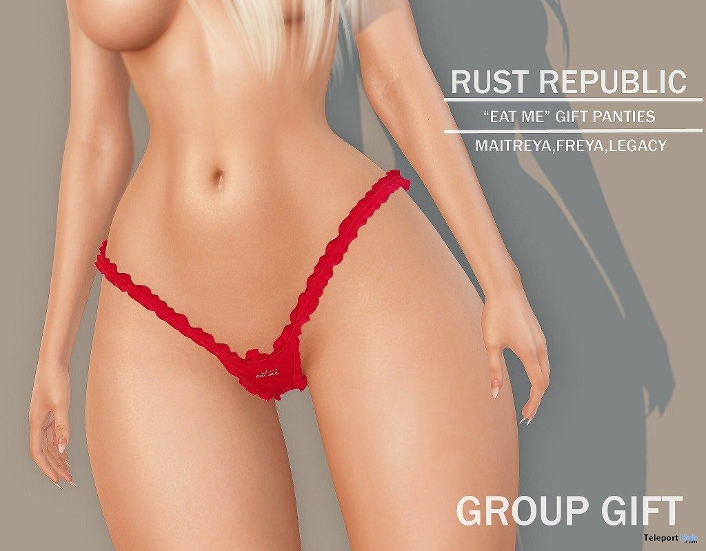 Eat Me Panties July 2019 Group Gift by Rust Republic- Teleport Hub - teleporthub.com