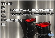 Leather Boots July 2019 Group Gift by The Rhode Design - Teleport Hub - teleporthub.com