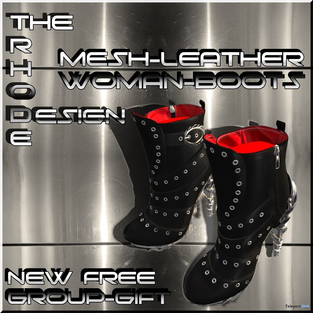 Leather Boots July 2019 Group Gift by The Rhode Design- Teleport Hub - teleporthub.com