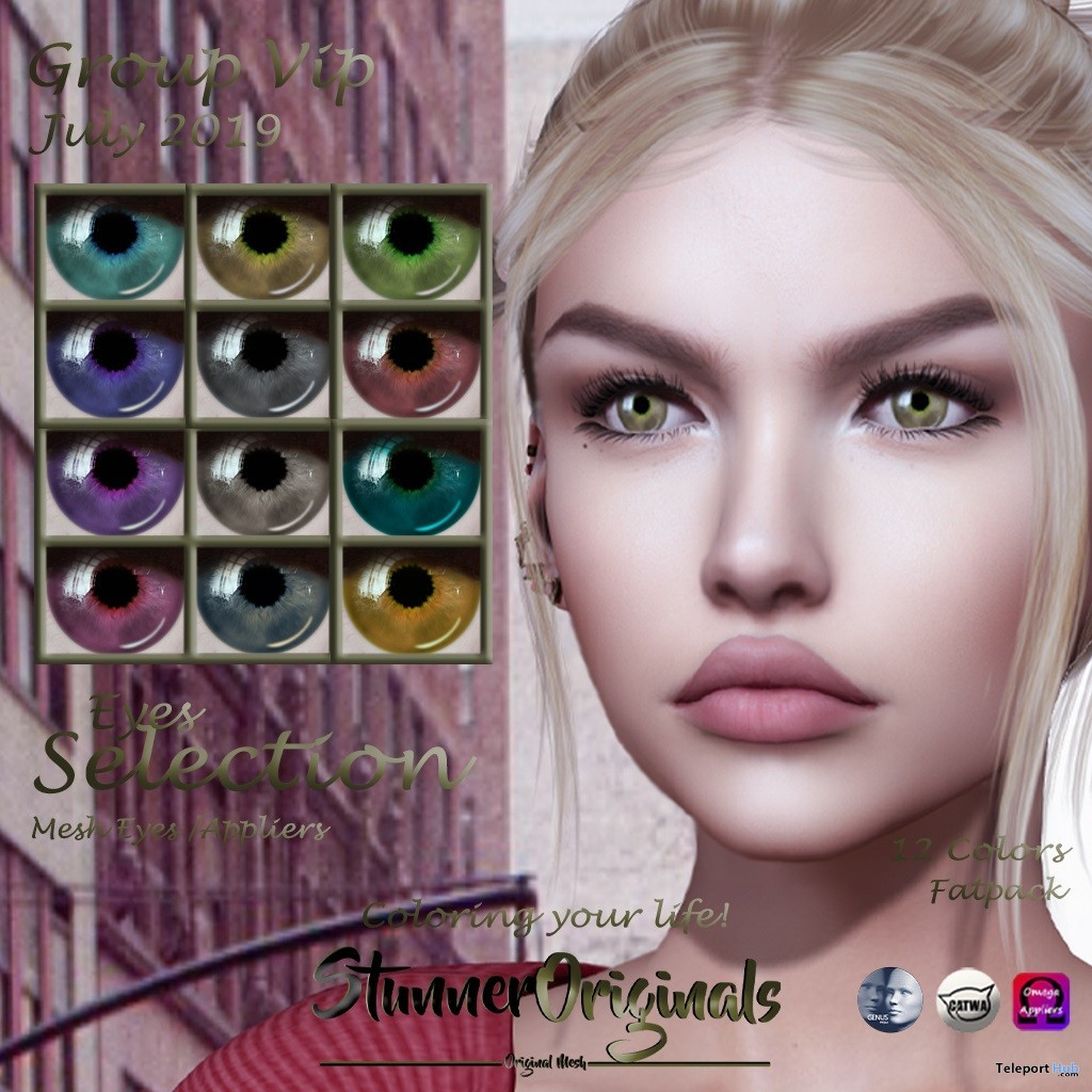 Eyes Selection Appliers July 2019 Group Gift by Stunner Originals - Teleport Hub - teleporthub.com