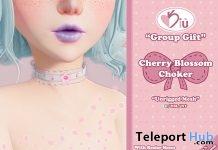 Cherry Blossom Choker July 2019 Group Gift by Kiu- Teleport Hub - teleporthub.com